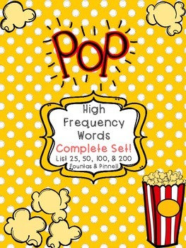 Sight Word POP! Complete Set!