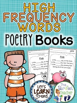 High Frequency Words Poetry Book