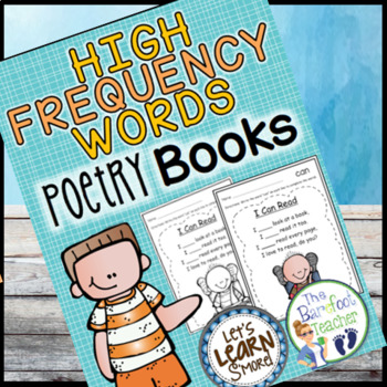 Sight Words, Popcorn Words, High Frequency Words Poetry Book, Fill in the Blanks