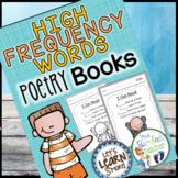 Poetry Book Sight Words / Popcorn Words, High Frequency Words Fill in the Blanks