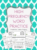 High Frequency Word Practice