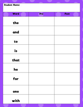 High Frequency Word Practice:  Fry Words 1-10 (Find It, Spell It, Write It)