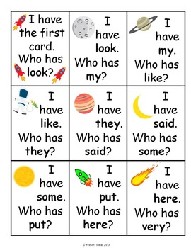 High Frequency Word Practice Games