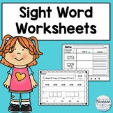 Sight Word Worksheets for Kindergarten