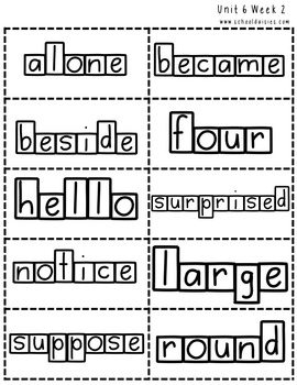 High Frequency Word Practice for Second Grade Complete Set