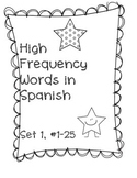 High Frequency Word Practice in Spanish, Set 1
