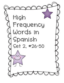 High Frequency Word Practice in Spanish, Set 2