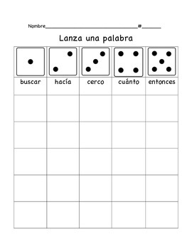 High Frequency Word Practice in Spanish, Set 3