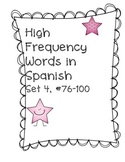 High Frequency Word Practice in Spanish, Set 4