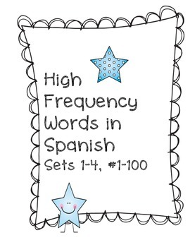 High Frequency Word Practice in Spanish, Sets 1-4