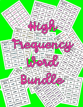 High Frequency Word Bundle | Transitional Readers | Level J-P