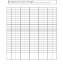 High Frequency Word Progress Monitoring Chart 25 per Column