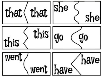High Frequency Word Puzzles