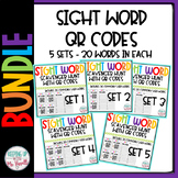 High Frequency Word QR Code Scavenger Hunt BUNDLED!