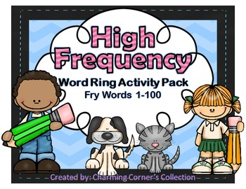 Fry Words ~ High Frequency Word Rings Set 1