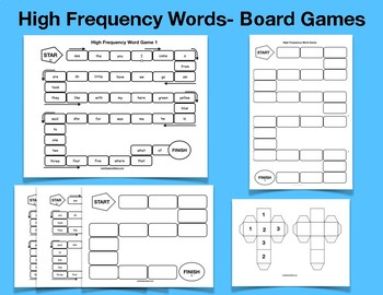 High frequency word roll and read board game by maritza good idea high frequency word roll and read board game ccuart Image collections