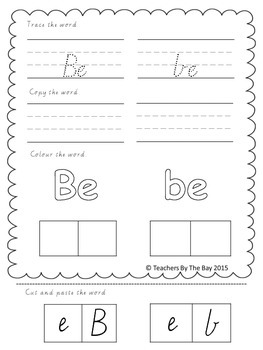High Frequency Word / Sight Word Activity Pack 1