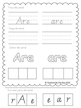 High Frequency Word / Sight Word Activity Pack 2