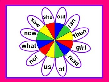 High Frequency Word Spinners