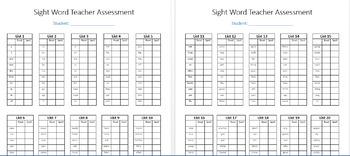High Frequency Word Teacher Pack