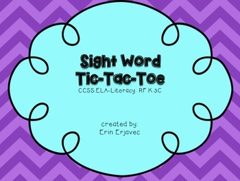 High Frequency Word Tic-Tac-Toe