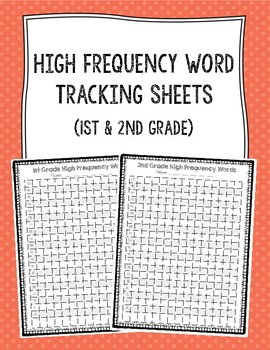 High Frequency Word Tracking Sheets