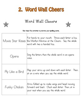 High Frequency Word Wall Kit  - WW Pockets, Words in 3 sizes, and WW Cheers