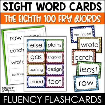 Fry Sight Words Flash Cards - The Eighth 100