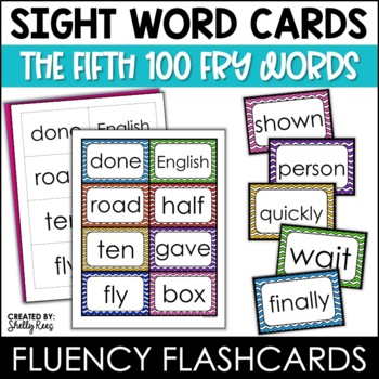 Fry Sight Words Flash Cards - The Fifth 100
