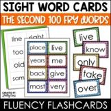 Word Wall Sight Words - Fry List - The Second 100 - Chevron Border