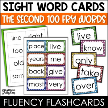 Word Wall Sight Words - Fry List - The Second 100 - Chevro