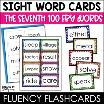 Word Wall Sight Words - Fry List - The Seventh 100 - Chevron Border
