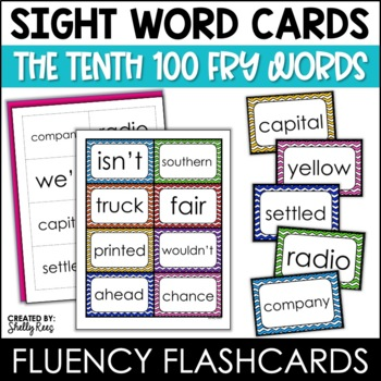 Fry Sight Words Flash Cards - The Tenth 100