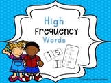 High Frequency Word Wall Words and Ring Cards