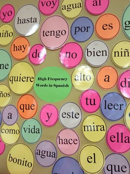 Building Academic Vocabulary - High Frequency Word Wall for Spanish Class