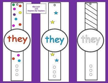 High Frequency Word Watches (Set A)