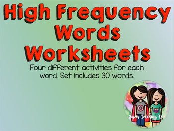 High Frequency Word Work