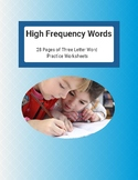 High Frequency Word Worksheets