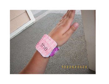 Sight Word Wrist Bands/Watch / Bracelet, Staple to Assemble