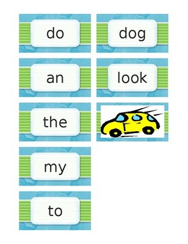 """High Frequency Word cards - """"Fast Words"""""""