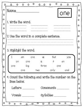 High Frequency Word of the Day Pack {Reading Street-Grade 1}