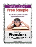 """High Frequency Word """"the"""" Practice Page"""
