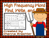 High Frequency Words Find, Write, and Read