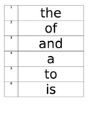 High Frequency Words 1-200