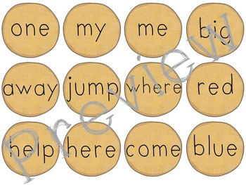 DolchSight Words (Pre-Primer & Primer) Bundle - Pancake Matching Game