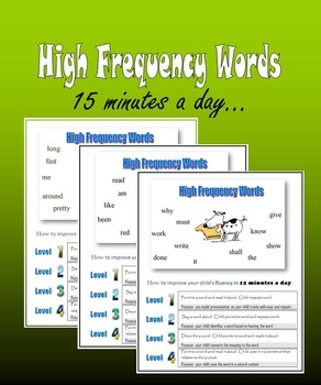 High Frequency Words:  15 minutes a day