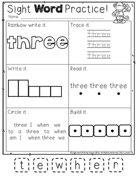 High Frequency Words {1st Grade, Pack 2 of 4}