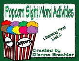 Popcorn High Frequency Words Activities (Literacy First, List C)