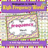 High Frequency Words - Kindergarten to Grade 5 - {446 Word Cards}