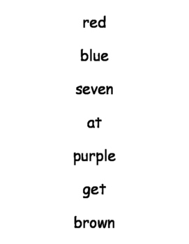 High Frequency Words 3